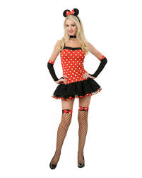 Mickey Mouse Halloween Costume Adults Women U0027s Naughty Minnie Mouse Style Costume Walmart