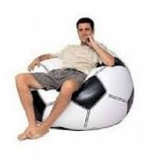 inflatable football beanless bag 68557np with pump as seen as on tv