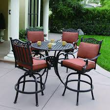 Patio Furniture Pub Table Sets - shop darlee charleston 5 piece antique bronze aluminum bar patio