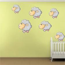 Decals Nursery Walls Nursery Sheep Wall Mural Decal Nursery Wall Decal Murals