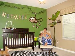 Baby Decor For Nursery Monkey Bedroom Decor Custom Decor Jungle Baby Room Jungle Theme