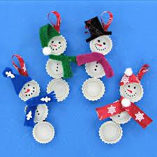 bottle cap snowmen diy ornaments always the holidays