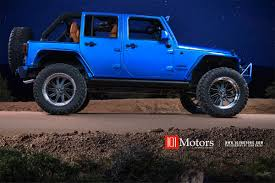 blue jeep 2015 jeep wrangler unlimited hardtop hydro blue pearl custom