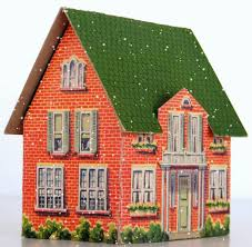 2 stories house 2 stories house with wall free building paper model