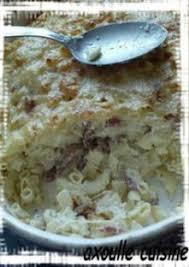 boursin cuisine recette gratin de pâte au boursin ail et fines herbes