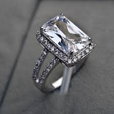 real diamond engagement rings 25 best rectangle engagement rings ideas on