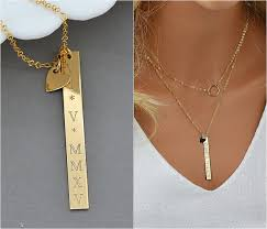 custom engraved necklace numeral bar necklace custom engraved necklace bar bar