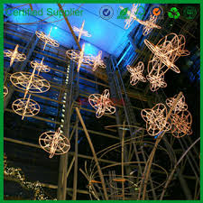 Christmas Decorating Pendant Lights by Gold Star Pendant Lighting For Christmas Decoration Shopping Mall