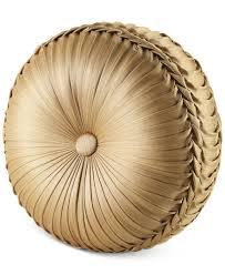 Home Decor Pillows J Queen New York Napoleon Gold Tufted Round Decorative Pillow