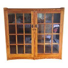 restoration hardware china cabinet restoration hardware mission style oak glass bookcase chairish