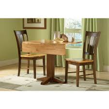 international concepts small drop leaf wood unfinished dining