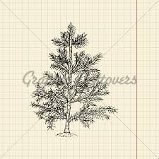 sketches of christmas trees archives pencil drawing collection