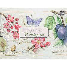 writing set 20 sheets of writing paper with a floral butterfly