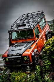orange land rover discovery land rover defender 90 land rover series defenders pinterest