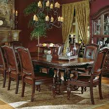 Steve Silver Company Antoinette Extension Dining Table In Cherry - Mahogany kitchen table