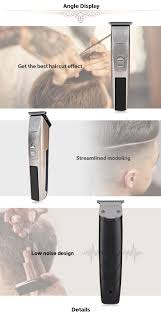 kemei km 2158 rechargeable hair clipper with combs golden buy
