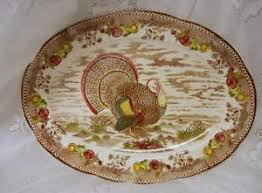 thanksgiving turkey platter vintage large thanksgiving turkey platter betson s japan ebay