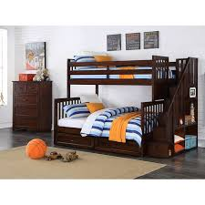 Staircase Bunk Beds Twin Over Full by Zachary 2 Piece Twin Over Full Staircase Bunk Bed Set