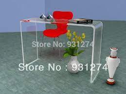 Acrylic Vanity Table Watetfall Acrylic Vanity Console Table Lucite Corner Desk In