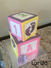 babyshower blocks cake cakecentral com