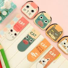 Magnetic Desk Accessories 8 Pcs Lot Kawaii Magnetic Bookmarks Cat Paper Clip Stationery