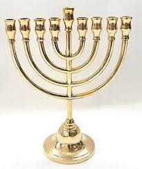 menorah candle holder authentic temple menorah hanukkah gold plated candle holder israel