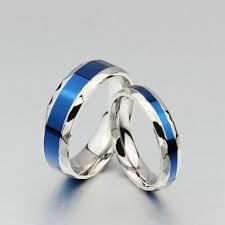 blue titanium wedding band orsa new arrival rings high quality titanium steel