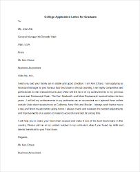 application letters sle college application letter 6 documents in pdf word