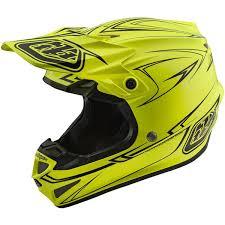 motocross helmet with visor troy lee designs se4 polyacrylite off road racing motorcycle mx