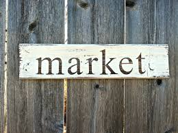 made to order vintage style market wooden sign handmade