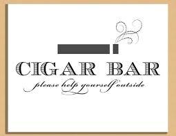 Wedding Signs Template Printable Wedding Sign Cigar Bar Sign Wedding And Event Signage