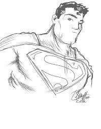 quick sketch superman artistjerrybennett deviantart