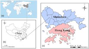 Shenzhen China Map Land Use Optimization For A Rapidly Urbanizing City With Regard To