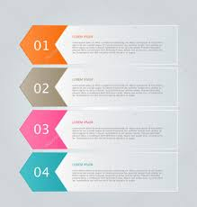 infographic template with step options for business startup