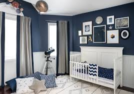 Celestial Inspired Boys Room Navy Walls Wall Colors And Bald - Bedroom wall designs for boys