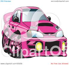 pink subaru wrx royalty free rf clipart illustration of a pink subaru impreza