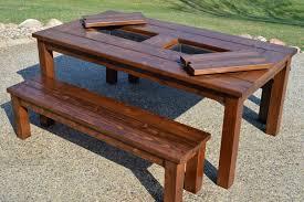 Patio Table Umbrella Insert Picnic Table With Icebox Inserts U2013 Propernerd