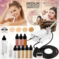 airbrush makeup for halloween belloccio professional medium shade airbrush cosmetic makeup