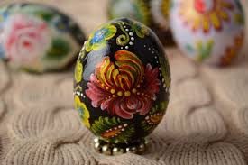 painted wooden easter eggs madeheart handmade wooden easter egg pysanka decorated with