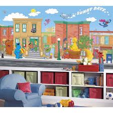 sesame street elmo big bird giant wallpaper accent mural