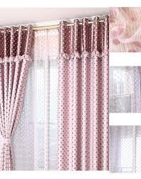 White Polka Dot Sheer Curtains Yarn Pink White Polka Dot Sheer Curtains