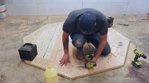 diy round farmhouse table diy round farmhouse dining table modern builds ep 53 youtube