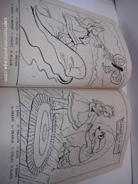 vintage 1960s color number thumbelina coloring book unused