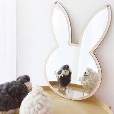 wall mirrors bathroom 1pcs nordic cartoon children decorative mirror bathroom baby room