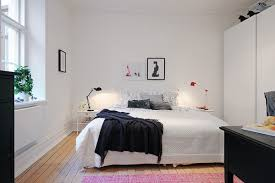 Small Bedroom Touch Lamps Apartment Small Bedroom With Shabby Bedding In White And