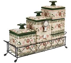 Canister Sets For Kitchen Ceramic Temp Tations Old World 6 Piece Ceramic Canister Set Page 1 U2014 Qvc Com