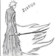ichigo bankai sketch by tsubasawb on deviantart