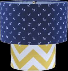 fresh elegant navy blue silk lamp shade 12621