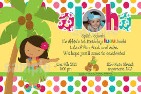 Birthday Invitation Card Maker 20 Luau Birthday Invitations Designs Birthday Party Invitations
