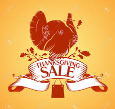 thanksgiving day sale design template royalty free cliparts